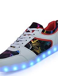 Недорогие -Жен. Обувь Дерматин Зима Осень Обувь с подсветкой Кеды На низком каблуке Круглый носок LED для Повседневные Для вечеринки / ужина на