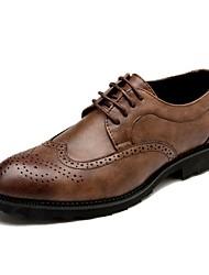 Herren Schuhe Leder Frühling Sommer Herbst Winter Komfort formale Schuhe Outdoor Schnürsenkel Für Normal Party & Festivität Schwarz Grau