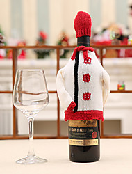 1PC Wine Racks Cloth Wine Accessories Christmas Home Decoration Wine Tasting Red Wine Champagne Bottle Cover Random Style