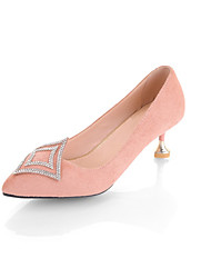 Women's Heels Comfort Novelty Fall Fleece Wedding Casual Party & Evening Dress Buckle Stiletto Heel Black Blushing Pink Light Blue 2in-2