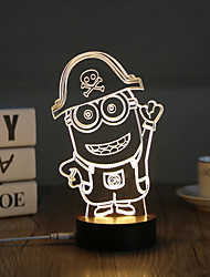 cheap -1 Set, Popular Home Acrylic 3D Night Light LED Table Lamp USB Mood Lamp Gifts, Cartoon
