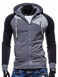 Hot Men's Sports Holiday Casual/Daily Hoodie Color Block Oversized Hooded Micro-elastic Cotton Polyester Long Sleeve Fall Winter