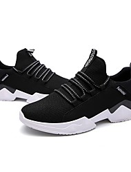 Men's Athletic Shoes Comfort Light Soles Knit Tulle Fall Winter Athletic Casual Outdoor Low Heel Black/Red Gray Black Under 1in