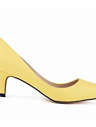Damen High Heels Komfort Pumps Echtes Leder PU Herbst Winter Normal Weiß Orange Grün Blau Mandelfarben 5 - 7 cm