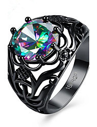 cheap -Women's AAA Cubic Zirconia Ring - Alloy Flower Fashion 6 / 7 / 8 / 9 RGB For Party Gift Daily