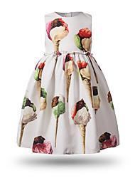 Robe Fille de Dessin-Animé Coton Printemps Eté Sans Manches