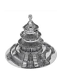 baratos -Quebra-Cabeça Quebra-Cabeças de Metal Circular Construções Famosas Arquitetura Chinesa templo do Céu Faça Você Mesmo Liga Unisexo Dom