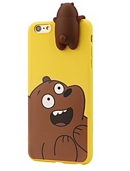 cheap -Case For iPhone 7 Plus 7 3D Cartoon Animals Cute We Bare Bears Soft Silicone Case Cover Skin 6 Plus 6