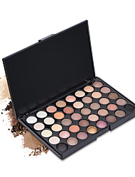 40 Lidschattenpalette Trocken Matt Schimmer Mineral Lidschatten-PaletteCateye Makeup Smokey Makeup Alltag Make-up Halloween Make-up Party