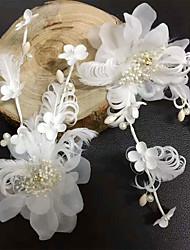 baratos -Tela de seda, rede de seda, flores, grampo de cabelo, cabeça, estilo elegante