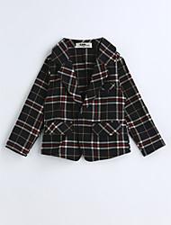 Boys' Plaid Suit & Blazer,Cotton Spring Fall Long Sleeve
