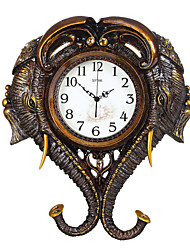 Modern/Contemporary Traditional Country Casual Retro Animals Wall ClockElephant Animals Resin Indoor Clock