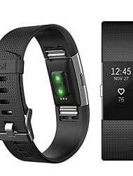 preiswerte -Uhrenarmband für Fitbit Charge 2 Fitbit Sport Band Fluorelastomer Handschlaufe