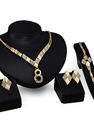 The Latest European And American Exaggerated Fashion High-End Ladies Jewelry Set / Ring / Earrings / Necklace / Bracelet