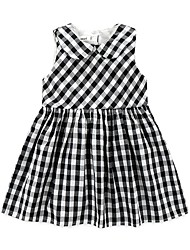 Baby Plaid/Check Dress,Cotton Polyester Taffeta Summer-