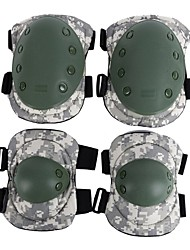 cheap -4pcs Tactical ACU Camo Knee Pad Elbow Pad Safety Pad Elbow Knee Protective Gear Safeguard Durable Comfortable for Outdoor Sports
