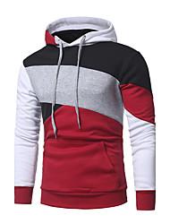 cheap -Men's Plus Size Hoodie - Color Block, Cut Out Hooded