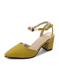 cheap -Women's Shoes PU Summer Comfort Sandals for Outdoor Beige Yellow