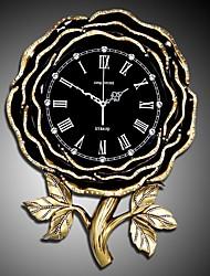 abordables -Moderno/Contemporáneo Tradicional Campestre Casual Retro Oficina/ Negocios Tema Jardín Flores/Botánica Reloj de pared,Flor Resina Interior