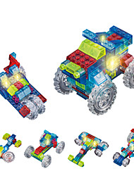 cheap -DOUZHI Toy Car LED Lighting Building Blocks 74 pcs Truck Truck Unisex Boys' Girls' Toy Gift / Crystal