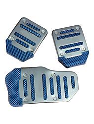 cheap -Blue 3PCS Auto Manual Pedal Pad
