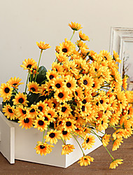 20Heads/Branch Mini Sunflower Artificial Flower Home Decoration