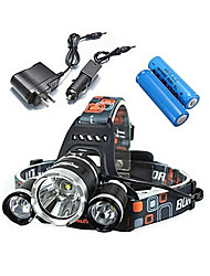 LS052 Headlamps Bike Lights LED 5000 Lumens 4 Mode Cree XM-L T6 Impact Resistant Rechargeable Waterproof for Camping/Hiking/Caving