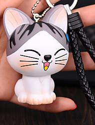 Saco / telefone / chaveiro encantos gato cartoon brinquedo telefone cinto pvc