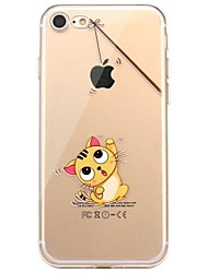 cheap -Case For IPhone 7 6 Cat Playing with Apple logo TPU Soft Ultra-thin Back Cover Case Cover iPhone 7 PLUS 6 6s Plus SE 5s 5 5C 4S 4
