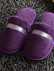cheap -Solid House Slippers Women's Slippers Polyester Knit solid color