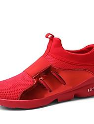 Недорогие -Для мужчин Спортивная обувь Удобная обувь Весна Осень Дышащая сетка Для фитнеса Атлетический Повседневные На плоской подошвеЧерный Серый