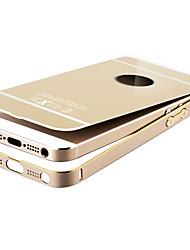 Недорогие -Кейс для Назначение iPhone SE/5s iPhone 5 Apple Защита от удара Покрытие Кейс на заднюю панель броня Твердый Металл для iPhone SE/5s