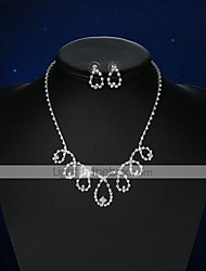 cheap -Women's Crystal Jewelry Set - Crystal, Silver Plated Drop Basic Include Stud Earrings / Necklace Silver For Wedding / Party / Ceremony