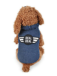 cheap -Dog Vest Dog Clothes Police/Military Cotton Down Costume For Pets Men's Women's Casual/Daily