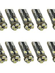 10pcs 1.5w weißes dc12v t10 8led 3528smd geführtes Selbstlampen-Autoinstrumentlicht dekoratives Lampen-Leselicht-Kfz-Kennzeichen-helle