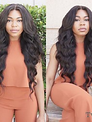 cheap -Human Hair Lace Front Wig Body Wave 130% 150% Density 100% Hand Tied African American Wig Natural Hairline 10 inch 12 inch 14 inch 16