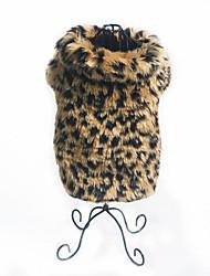 baratos -Cachorro Fantasias Roupas para Cães Leopardo Plumagem Terylene Ocasiões Especiais Para animais de estimação Festa