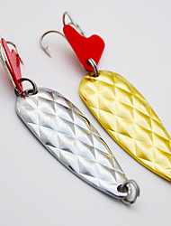 2 pçs Isco de Metal Colheres Iscas Colheres Conjuntos de Isco Isco de Metal g/Onça mm polegada,Liga de MetalPesca de Mar Rotação Pesca