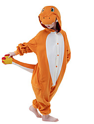 cheap -Kigurumi Pajamas Dragon Cartoon Onesie Pajamas Costume Polar Fleece Orange Cosplay For Children's Animal Sleepwear Cartoon Halloween