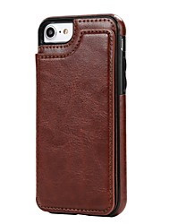 economico -Custodia Per iPhone 7 Plus iPhone 7 iPhone 6s Plus iPhone 6 Plus iPhone 6s iPhone 6 iPhone 5 Apple Porta-carte di credito Con supporto