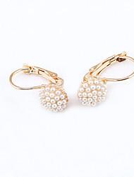 Femme Boucles d'oreille goutte Perle imitée Sexy Mode Imitation de perle Forme de Cercle Bijoux Pour Quotidien Rendez-vous