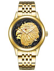 Недорогие -Жен. Модные часы Наручные часы Механические часы Китайский Механические, с ручным заводом Нержавеющая сталь Группа Золотистый
