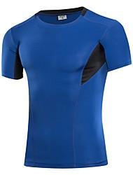 cheap -Men's Running Baselayer - Gray, Light Red, Fruit Green Sports Tee / T-shirt / Sweatshirt / Tracksuit Exercise & Fitness, Cycling / Bike,