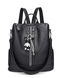 cheap -Women Bags Sheepskin leatherette Backpack Zipper for Casual Fall All Seasons Black