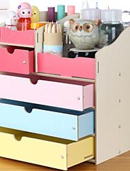 1pc madeira simples estilo europeu coreano cosméticos caixa de armazenamento maquiagem armazenamento