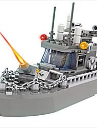 Blocos de Construir Brinquedos Barco de Guerra Peças Para Meninos Rapazes Aniversário Dom