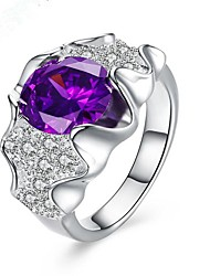 cheap -May Polly  Hot fashion 925 silver plated purple Gemstone Ring