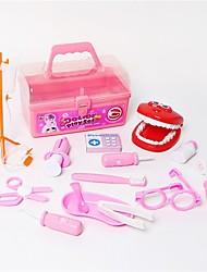 abordables -Juegos médicos Accesorios de juguete para profesiones Juguete Educativo Juguetes Juguetes Doctor Plásticos Niños Chica 15 Piezas