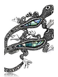 Недорогие -Жен. Броши Стразы На заказ Роскошь Классика Винтаж Классический Elegant Мода Простой стиль Хрусталь Искусственный бриллиант Сплав Прочее
