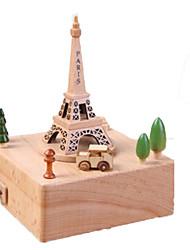 cheap -Music Box Wood Tower Horse Carousel Unisex Gift